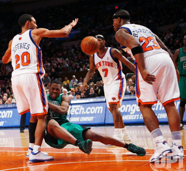 Boston Celtics vs New York Knicks in New York