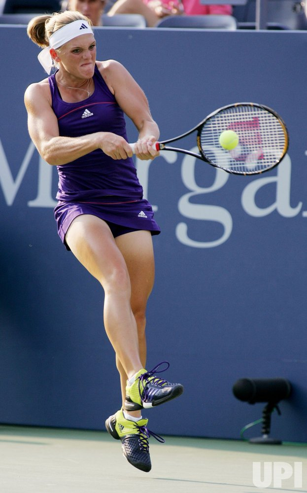 Melanie Oudin and Alona Bondarenko compete at the U.S. Open in New York