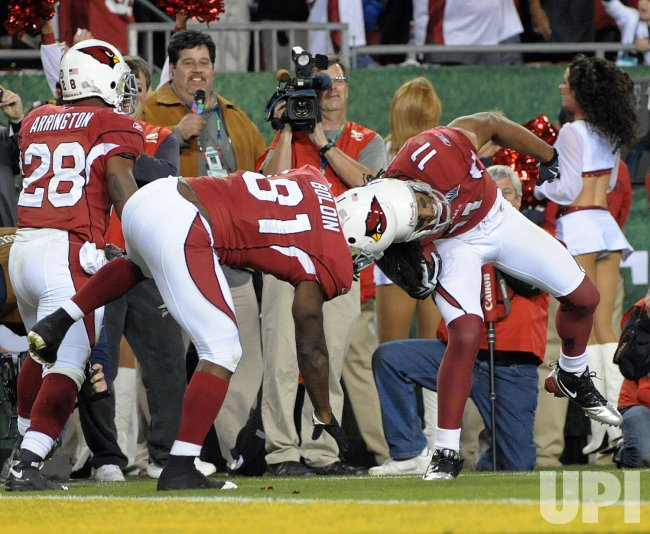 Super Bowl XLIII Arizona Cardinals vs. Pittsburgh Steelers in Tampa, Florida.