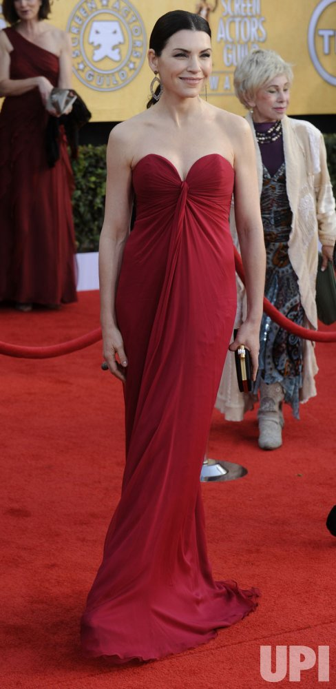 Julianna Margulies arrives at the 17th annual Screen Actors Guild Awards in Los Angeles