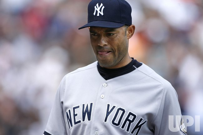 New York Yankees relief pitcher Mariano Rivera walks off the mound against the Chicago White Sox