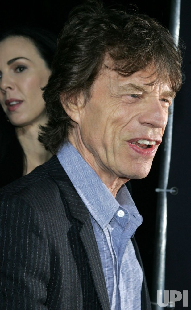"Mick Jagger arrives for the premiere of ""Boardwalk Empire"" in New York"
