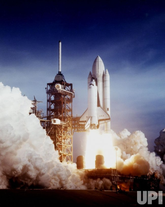 Space Shuttle Columbia's first launch in Florida