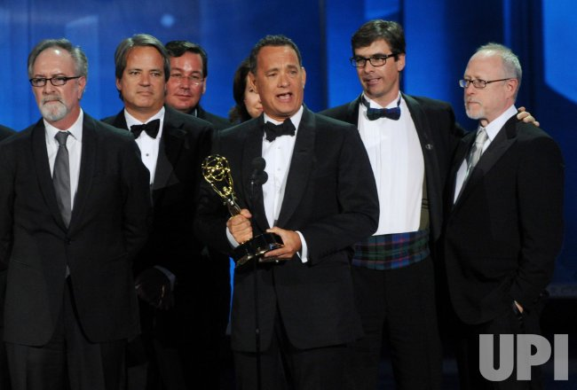 Tom Hanks garners award at the 62nd annual Primetime Emmy Awards in Los Angeles