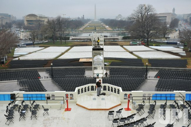 Inauguration Preparation in Washington, DC