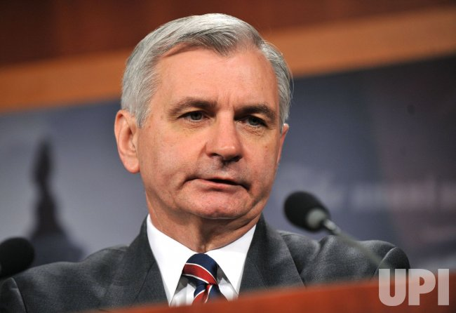 Sen. Jack Reed (D-RI) speaks on the financial reform bill in Washington