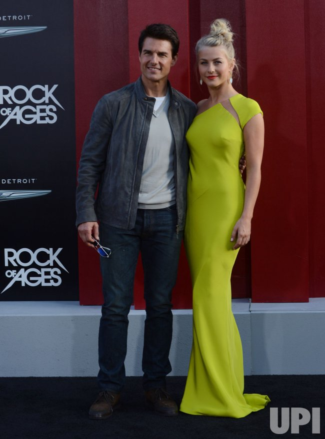 """Tom Cruise and Julianne Hough attend the """"Rock of Ages"""" premiere in Los Angeles"""