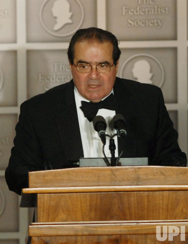 Supreme Court Justice Scalia speaks at Federalist Society Gala in Washington