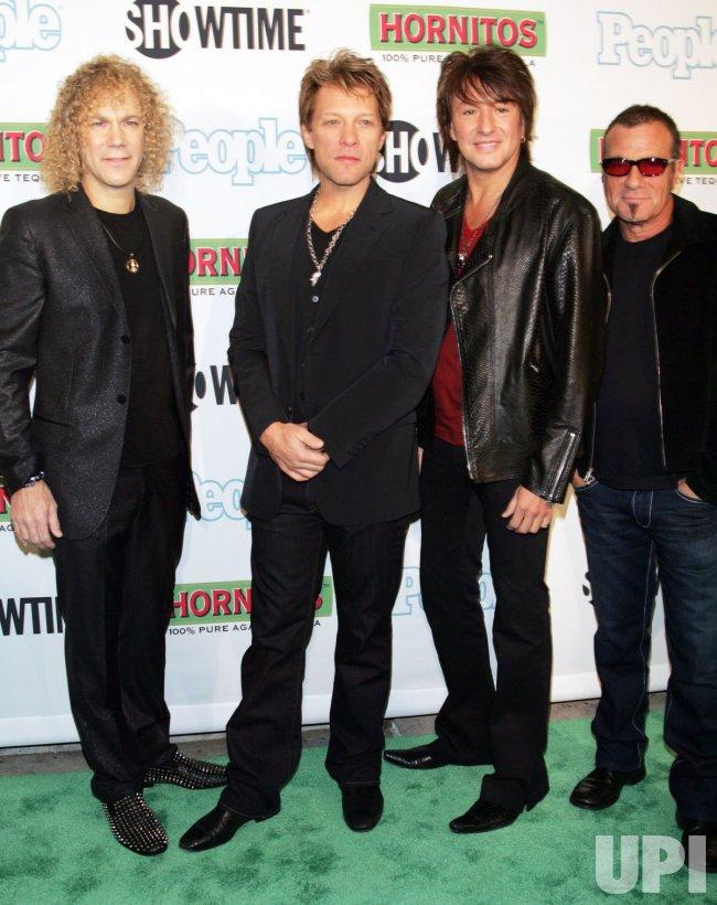 "Bon Jovi arrives for the ""Bon Jovi: When We Were Beautiful"" Premiere in New York"