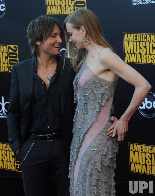 Keith Urban and Nicole Kidman attend the 37th American Music Awards in Los Angeles