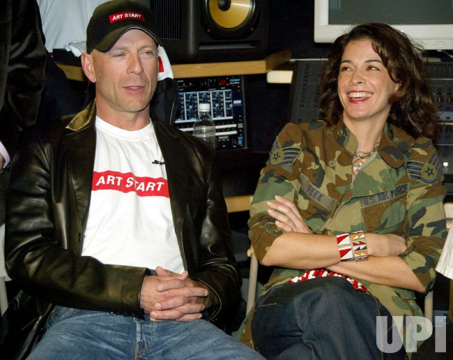 Bruce Willis, Annabella Sciorra and Russell Simmons Press Conference at Art Start