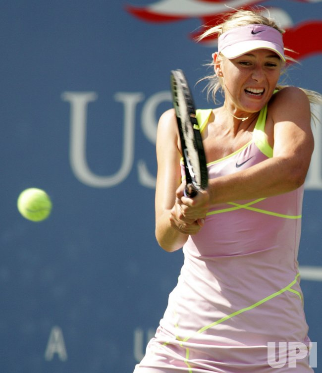 Sharapova takes on Oudin in third round action at the US Open tennis in New York