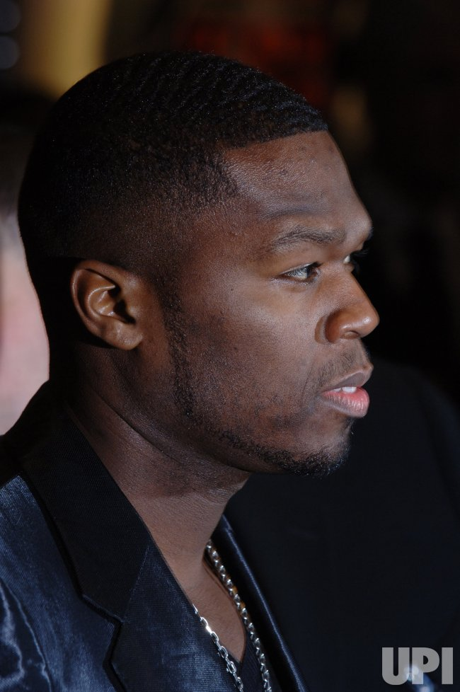 """ACTOR/RAPPER 50 CENT AT """"GET RICH OR DIE TRYING"""" BRITISH PREMIERE"""