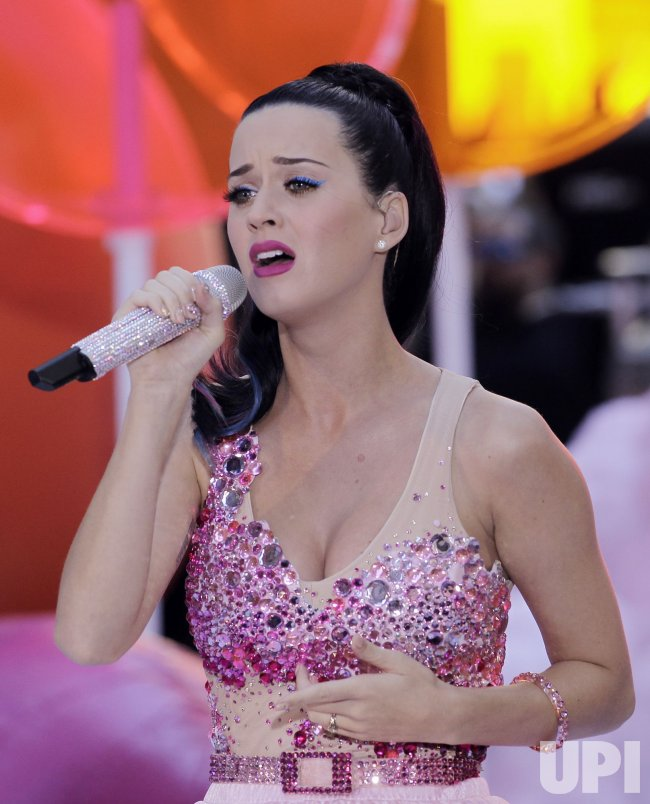 Katy Perry performs on the NBC Today Show at Rockefeller Center in New York