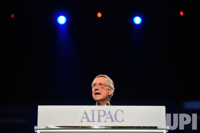 Senate Majority Leader Harry Reid (D-NV) addresses the AIPAC Policy Conference in Washington
