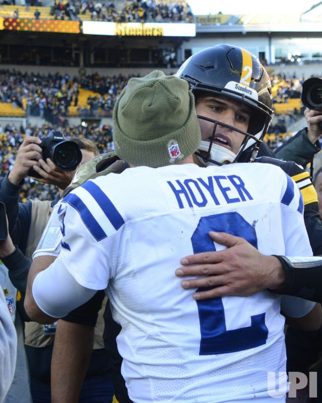 Steelers and Colts Quarterback Meet after Steelers Win