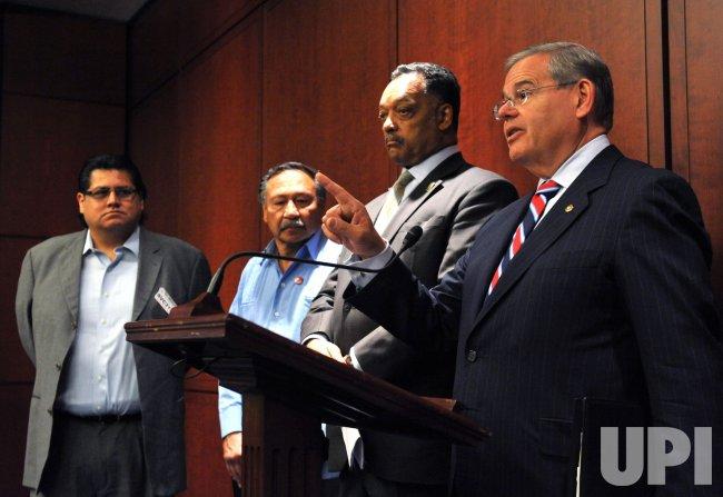 Sen. Robert Menendez (D-NJ) speaks on the POWER Act in Washington