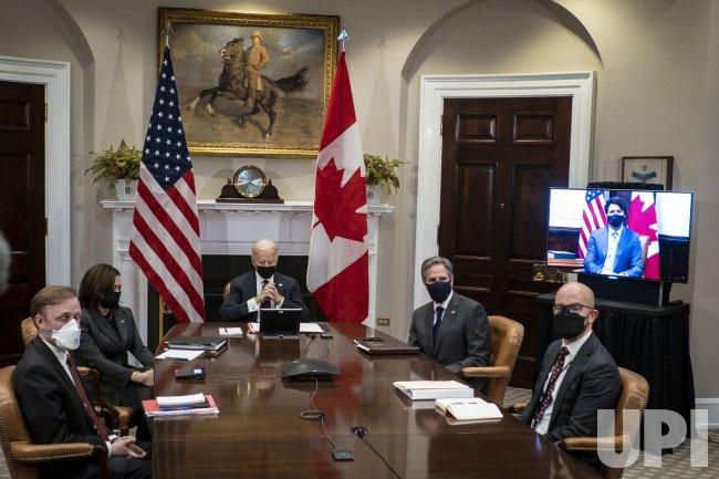 Biden Virtual Bilateral Meeting with Trudeau
