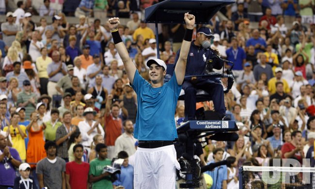 John Isner defeats Andy Roddick on day 6 at the US Open Tennis Championships in New York