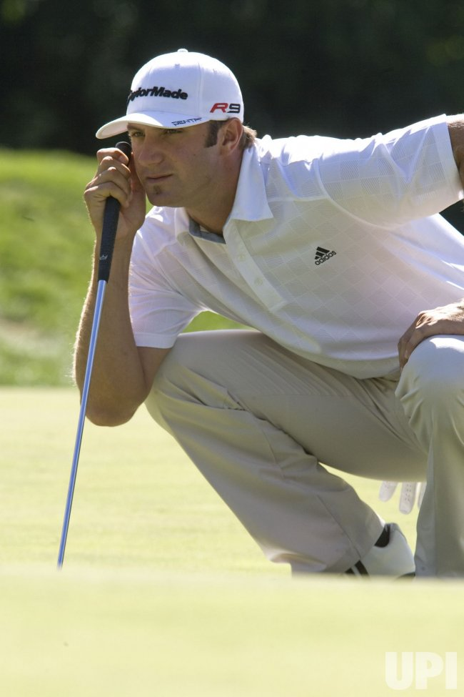 Dustin Johnson plays at 2010 At&T National in Newtown, Square, Pennsylvania.
