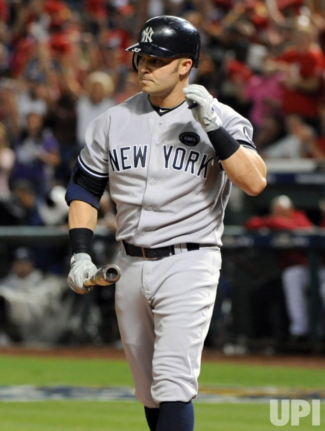 New York Yankees Nick Swisher strikes out