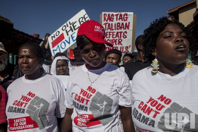 Protest against US President Barack Obama's visit to South Africa in Pretoria, South Africa