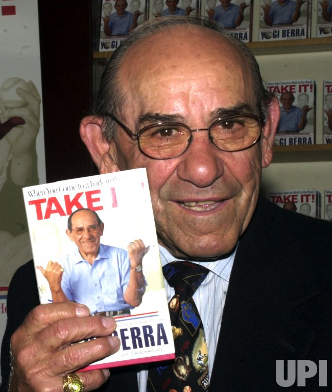 YOGI BERRA PROMOTES NEW BOOK BIOGRAPHY
