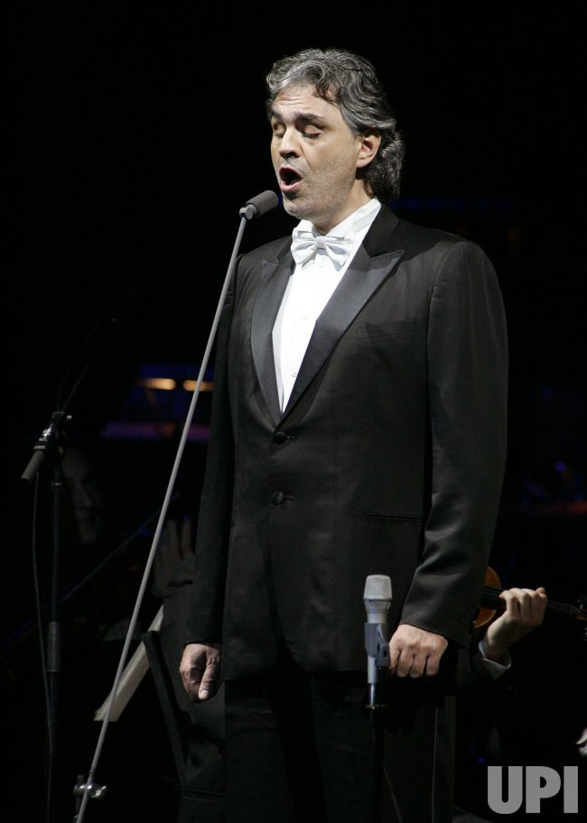 Andrea Bocelli performs in concert in Florida