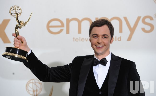 Jim Parsons wins at the Primetime Emmy Awards in Los Angeles