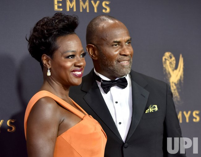 Viola Davis and Julius Tennon attend the 69th annual Primetime Emmy Awards in Los Angeles
