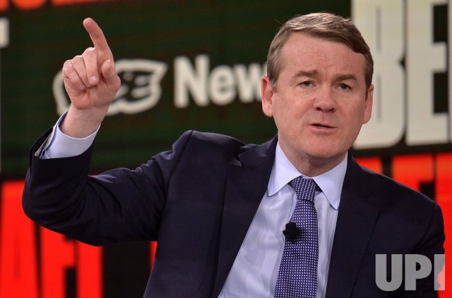 Democratic candidate Michael Bennet attends Brown & Black Presidential Forum in Iowa