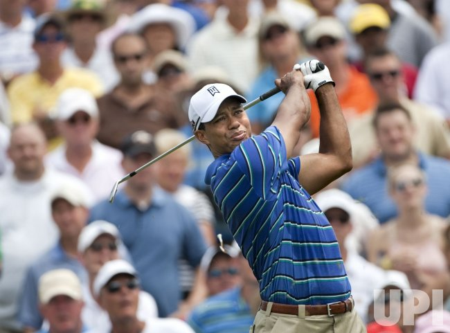 Tiger Woods plays at The Players Championship PGA tournament in Florida