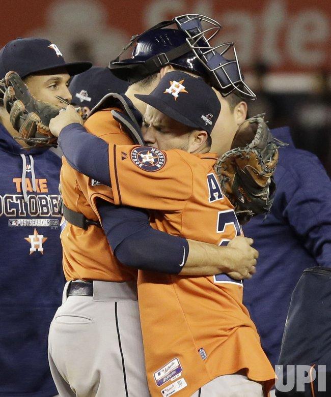 Houston Astros celebrate Wild Card Win