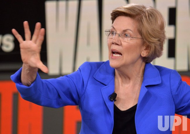 Democratic candidate Elizabeth Warren attends Brown & Black Presidential Forum in Iowa