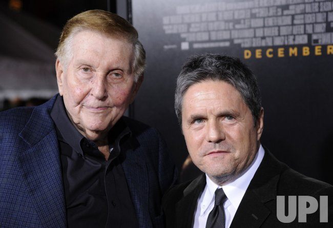 "Sumner Redstone and Brad Grey attend the premiere of the film ""The Fighter"" in Los Angeles"
