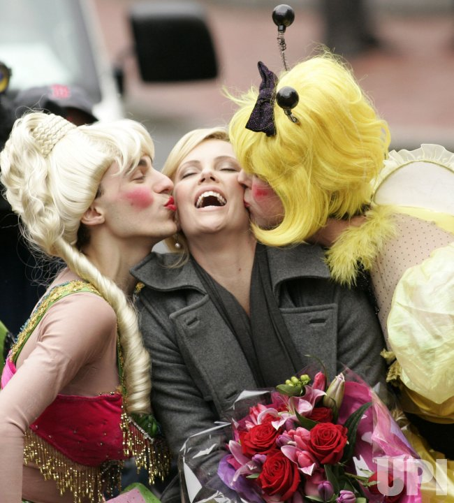Charlize Theron presented with 2008 Hasty Pudding Woman of the Year award at Harvard University