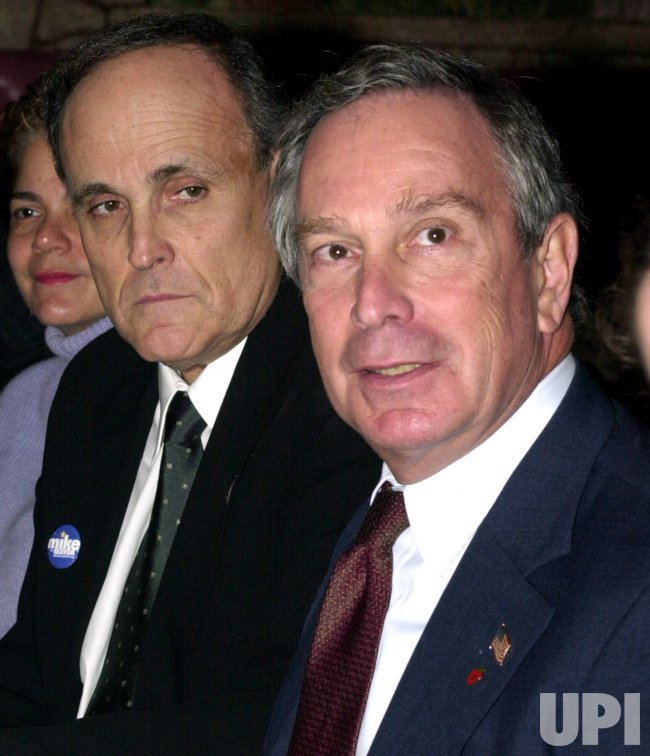 MAYOR GIULIANI JOINS MAYORAL HOPEFUL MIKE BLOOMBERG TO CAMPAIGN