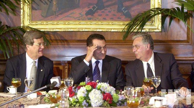 Eqyptian President Hosni Mubarak
