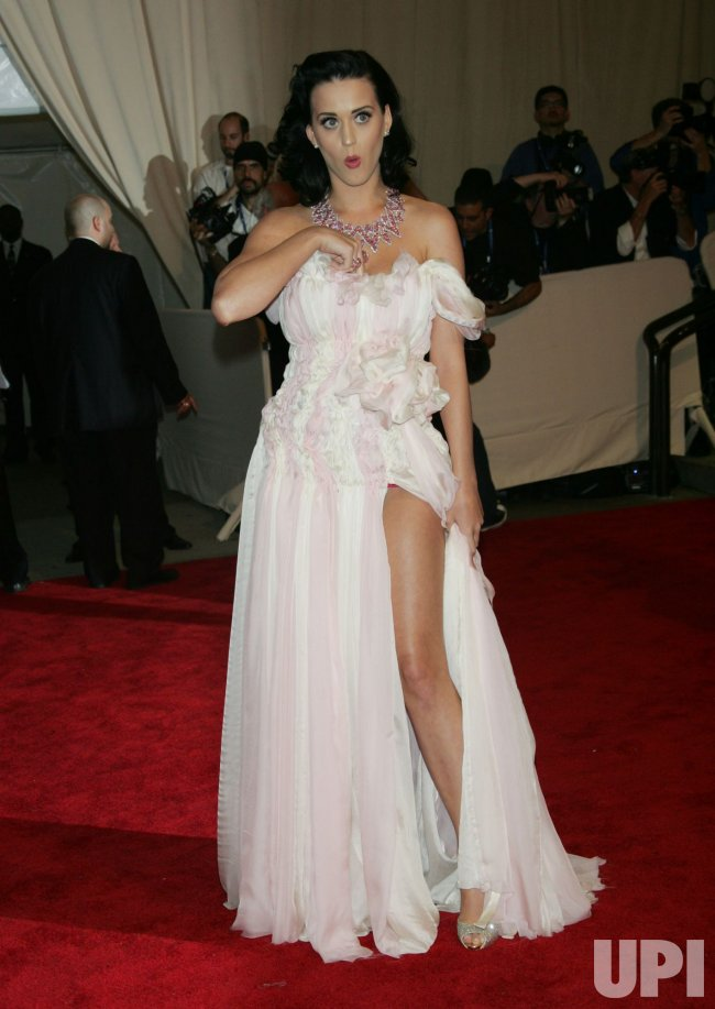 Katy Perry arrives for the Metropolitan Museum of Art's Costume Institute Gala in New York