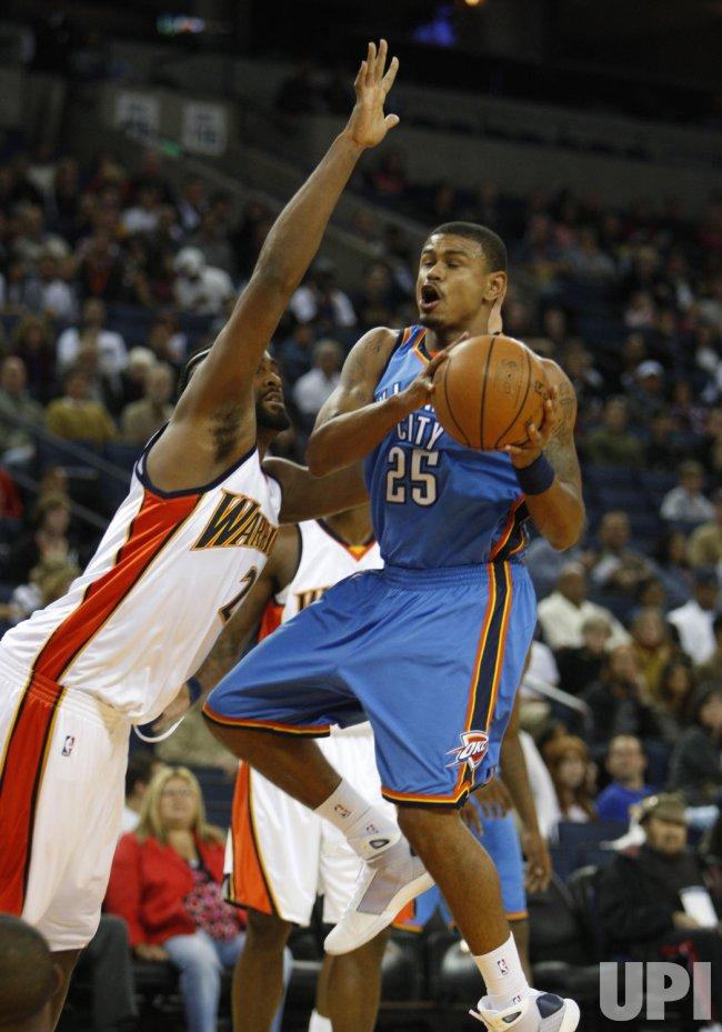 Golden State Warriors host Oklahoma City Thunder in pre season basketball