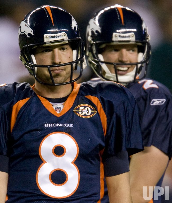 Broncos QB's Orton and Simms Stand Together in Denver