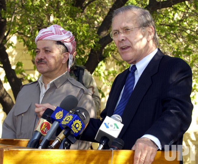 RUMSFELD VISITS IRAQ