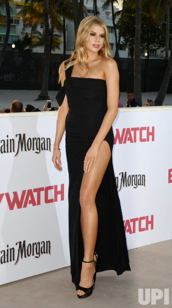 Charlotte McKinney Attends the US Premiere of Baywatch in Miami Beach Florida