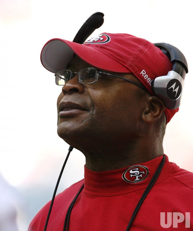 San Francisco 49ers Head Coach Mike Singletary at Reliant Stadium in Houston