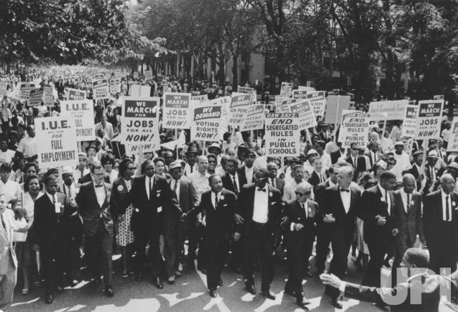 The Rev Martin Luther King Jr 39 S March On Washington
