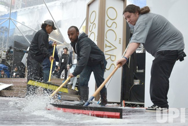 Preparations are underway for the 86th Academy Awards in Hollywood