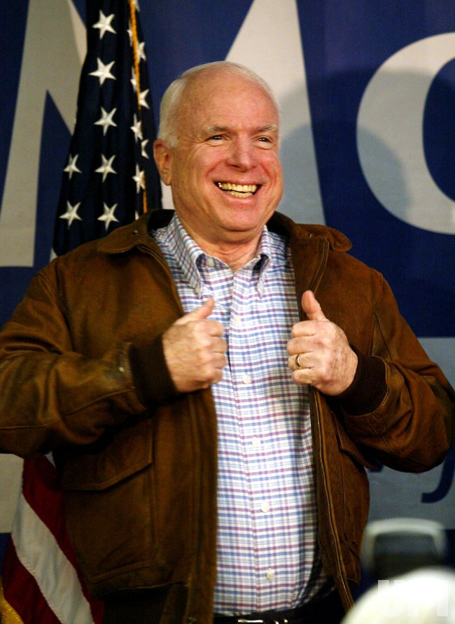 Senator John McCain campaigns in Iowa