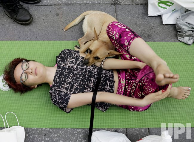 Yoga classes in Times Square to Celebrate the Summer Solstice