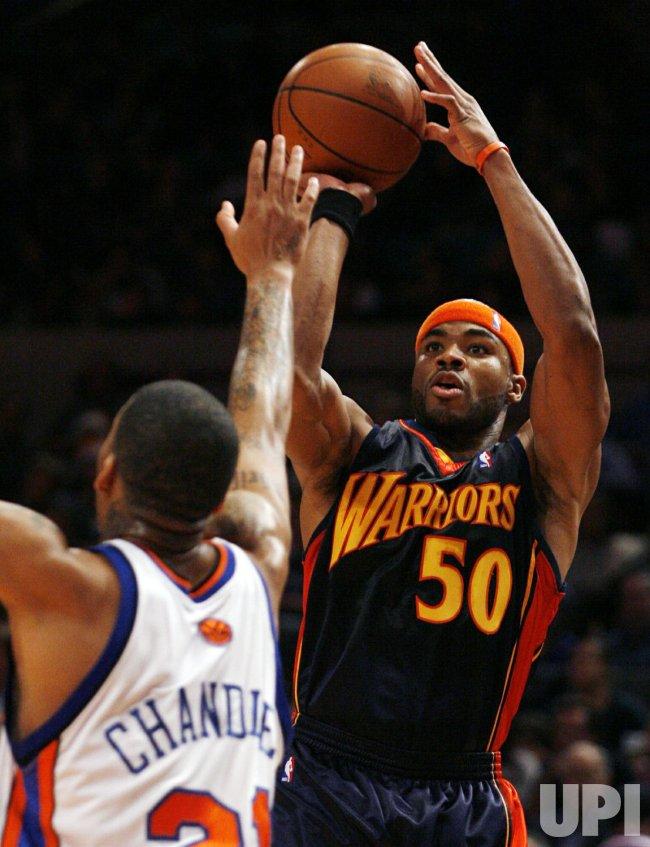 Golden State Warriors vs New York Knicks in New York