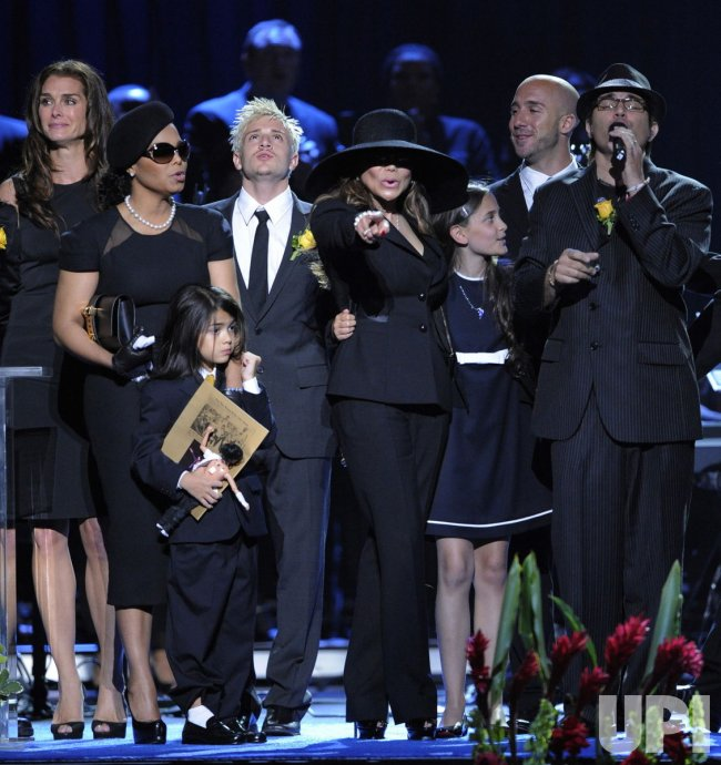 Michael Jackson memorial service held at Staples Center in Los Angeles.